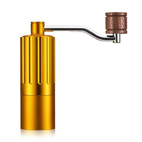 Manual Coffee Grinder - aluminum 12ml Portable Hand-Operated Grind Machine with Adjustable Coarseness - Set Includes Cleaning Brush, Storage Bag - Best for Camping, Travel.