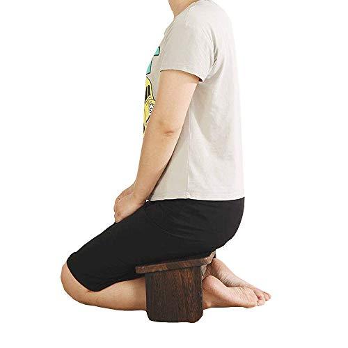 YANMUZI Meditation Stool Wood Meditation Bench Sitting Bench Church Worshipping Bench...