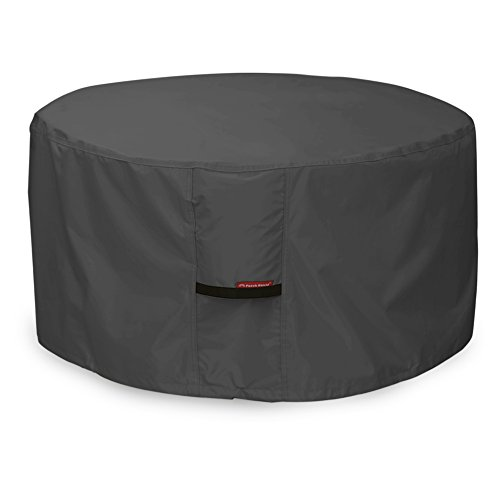 Porch Shield Fire Pit Cover - Waterproof 600D Heavy Duty Round Patio Fire Bowl Cover Black - 50 inch