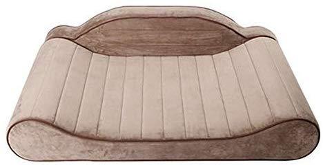 Zxx Pet Mat – Caseta extraíble y Lavable cálido Estaciones Golden Retriever Pet colchón Sofá Grande Mediano y pequeño Perros y Perros Suministros/Espuma de Memoria Pet Cama, marrón Claro