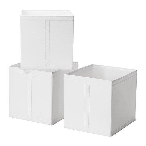 Ikea SKUBB – låda, vit/3-pack – 31 x 34 x 33 cm