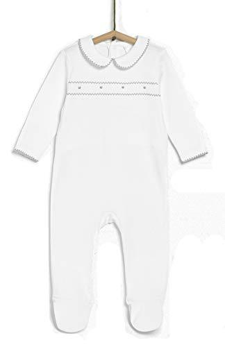 TEX - Pijama para Recién Nacido Unisex, Gris Plateado Claro, 0 a 1 Mes (54 cm)
