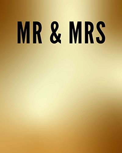 MR & MRS: A Decorative GOLD and BLACK Designer Book For Coffee Table Decor and Shelves | You Can Stylishly Stack Books Together For A Chic Modern ... Stylish Home or Office Interior Design Ideas