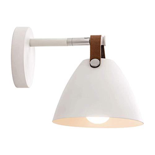 Nordique Minimaliste Chambre Chevet Lampe Fer Chambre des Enfants Lumière de Lecture Blanc Allée Escalier Applique LED Source de Lumière