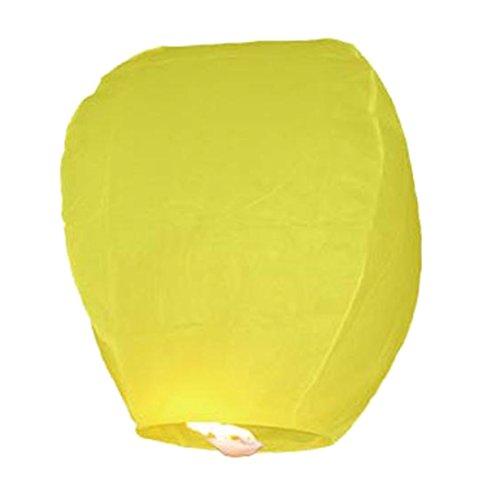 Pack 10 Lanternes Volantes Jaune - Sky lanterns