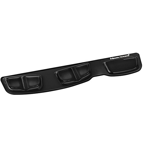 Fellowes Keyboard Palm Support with Microban Protection, Gel, Black (9183201)