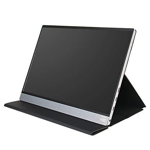 Monitor Portátil, Pantalla de Computadora Monitor portátil 4K 15. 6' FHD HDR IPS Monitor portátil portátil con USB- C HDMI for ordenador personal Telefono mac xbox PS4 Cambiar, con cubierta inteligen