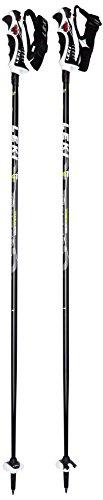LEKI Erwachsene Skistöcke Speed S Airfoil, Black, Green-White-Anthracite, 110 cm