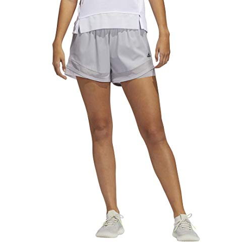 adidas womens Training Shorts HEAT.RDY Glory Grey Small