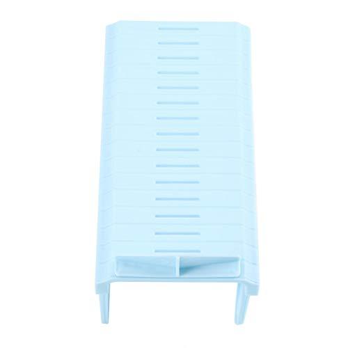 Gedourain Zapatero Ligero y Duradero portátil práctico para Dormitorio(Light Blue, 22.5 * 11cm)