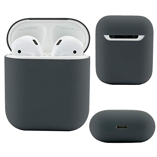 Airpods Case Protective Silicone Cover and Skin for Apple Airpods Charging Case (Grey)