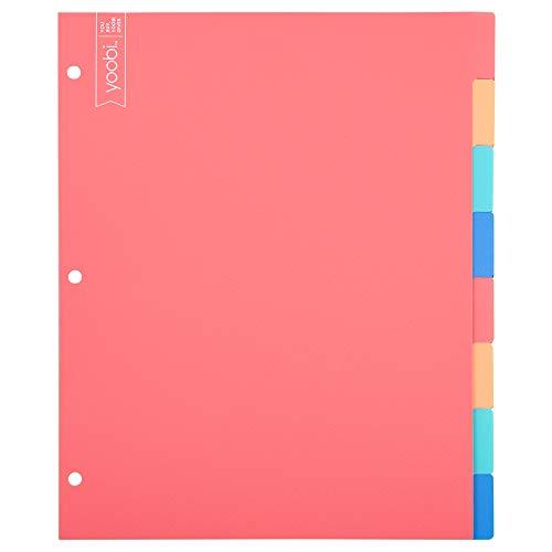 Yoobi   Dividers   8 Tab   Multicolor Variety Pack of 4 (YOOB4192678)
