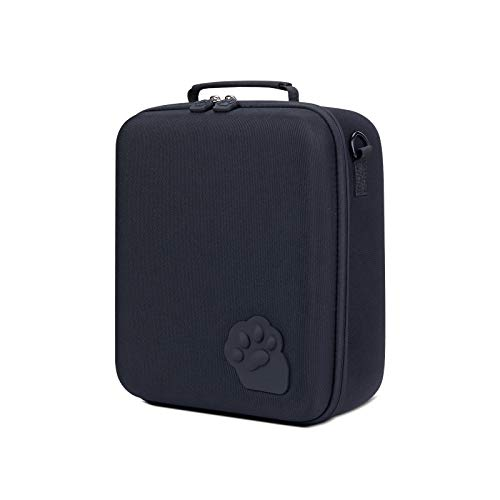 Carrying Storage Case for Nintendo Switch, Large Protective Travel Hardshell Messenger Bag for Switch Console, Pro Controller, Accessories Switch Dock, AC Adapter with 16 Game Cards Black