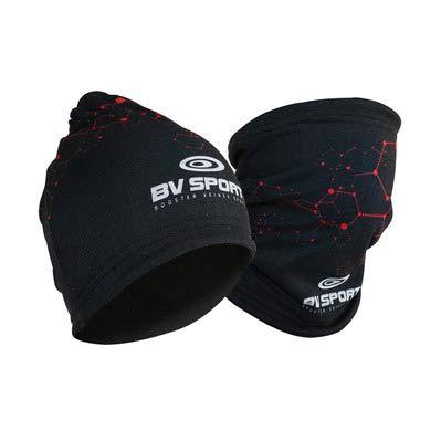 BV Sport Bonnet Multifonctions Rouge ET Noir Bonnet de Sport