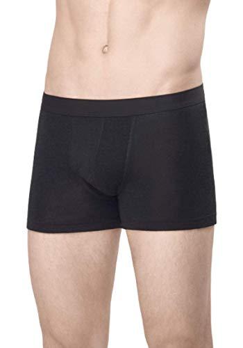 UTENOS Herren boxershorts aus 100% Merinowolle (L, Schwarz)