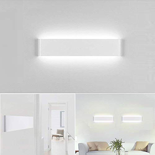Aplique Pared Interior LED IP44 Impermeable Kambo Lámpara de Pared Interior Moderna 14W 40CM Blanco Frío 6000K 1000LM AC85-265V Aluminio Decoración para Salon Pasillo Escalera Dormitorio Baño