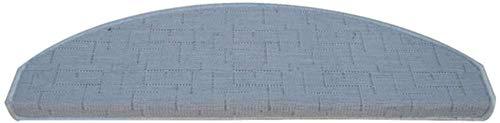 GWFVA Escalera - Alfombras Alfombra Alfombrilla Antideslizante de Seguridad para escaleras/Semicírculo Universal Gris/Lavable, Suave, antiestática Alfombra autoce