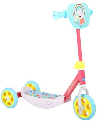 Peppa Pig Wutz Roller für Kinder ab 2 Jahre Mädchen Jungen Laufrad Scooter Tretroller Dreirad Pink