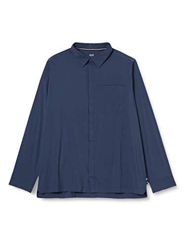 Jack Wolfskin JWP Homme Longsleeve Shirt, Night Blue, FR : M (Taille Fabricant : M)