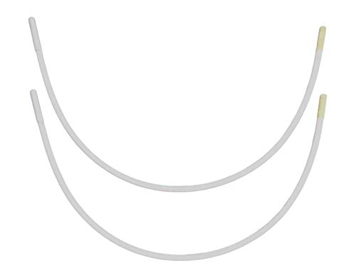 Porcelynne Carbon Steel Replacement Underwire Repair - Nylon Coated - Heavy Gauge Sturdy Wire for Bras - Regular Wire Size 52-1 Pair - See Pictures for Measurements and How to Order