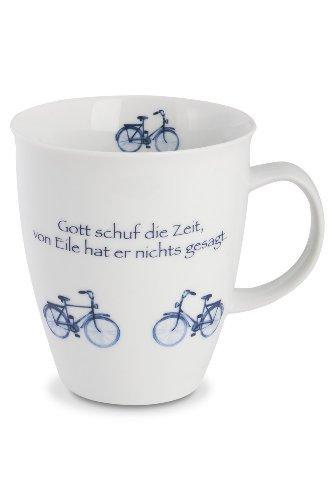 CUP+MUG Becher, Fahrräder, m. Spruch