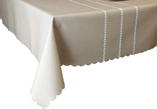 MOCHENG Nappe de Cuisine rectangulaire Motif Rayures, Beige, 120X170cm