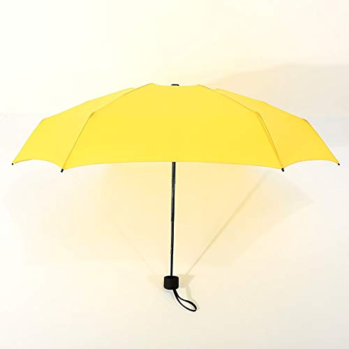 WPC Brands Mini paraguas de bolsillo para mujer con pequeños rayos UV, 180 g, lluvia, impermeable, para hombres, parasol, conveniente para niñas, viajes, parapluie Kid reborn doll (color amarillo)