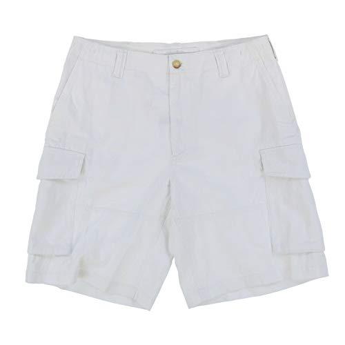 "Ralph Lauren Men Relaxed Fit 10"" Cargo Shorts White 31"