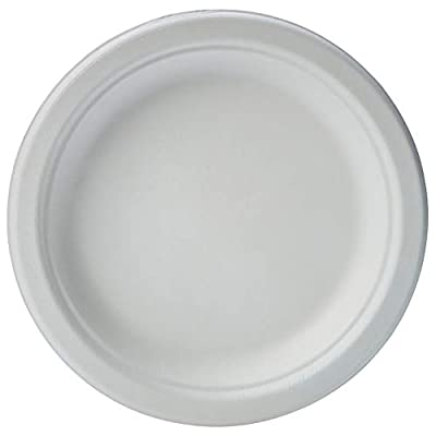AmazonBasics Compostable Plates, 6-Inches, Pack of 1,000