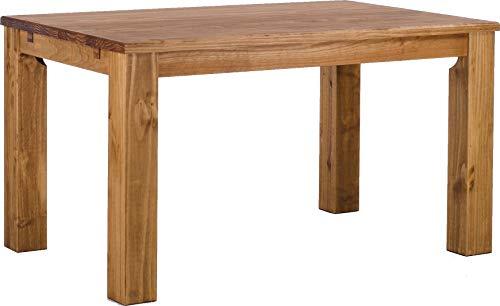 Brasilmöbel Esstisch Rio Classico 140x90 cm Brasil Massivholz Pinie Holz Esszimmertisch Echtholz Größe und Farbe wählbar ausziehbar vorgerichtet für Ansteckplatten