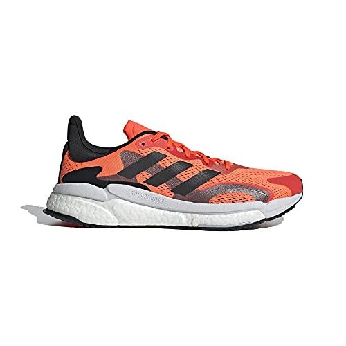 Adidas Boost 3 M, Zapatillas para Correr Hombre, Solar Red/Core Black/Night Met, 44 2/3 EU