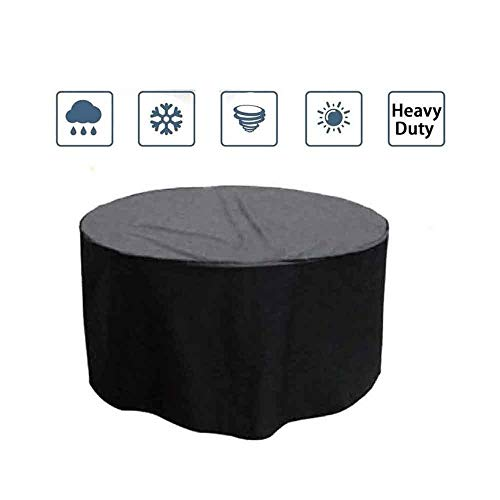 ASDFGHT Rattan Furniture Covers Outdoor Waterproof Dust-proof Coffee Table And Chairs Mechanical Equipment Storage Protective Tarpaulin, Custom Size (Color : Black, Size : 210x90cm)