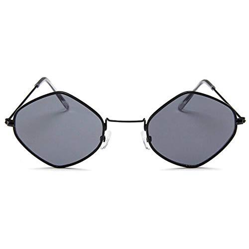 ZRTYJ Gafas de Sol Gafas de Sol de Moda para Mujer Rombo Marco pequeñoOcéano Violeta Rosa Claro Azul Gafas de Sol Marco de Metal Uv400 Oculos De Sol