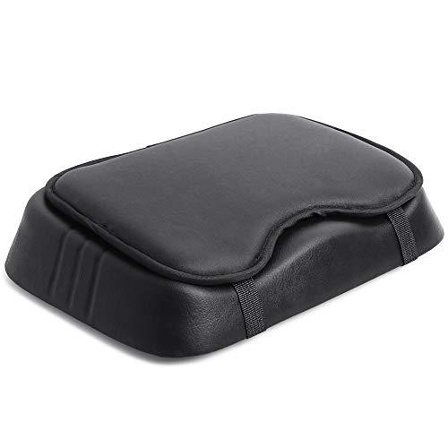 Kylin Sport Ruderkissen, Sitzkissen, bequemes Sitzkissen, für Rudern, Indoor, aus PU-Leder, schwarz, 29 x 23 cm