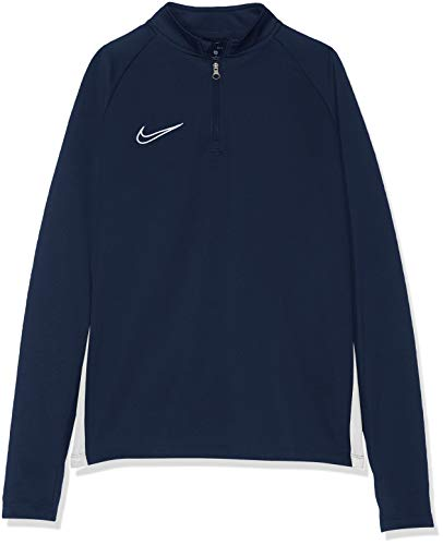 Nike Jungen B NK DRY ACDMY DRIL TOP Long Sleeved T-Shirt, Obsidian/White, M