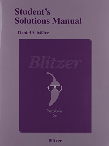 Student's Solutions Manual for Precalculus (5th Edition)