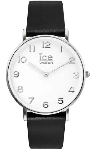 Ice-Watch - CITY tanner Black Silver - Men's (Unisex) wristwatch with leather strap - 001514 (Medium)