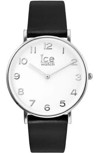 Ice-Watch - CITY tanner Black Silver - Reloj nero para Hombre (Unisex) con Correa de cuero - 001502 (Small)