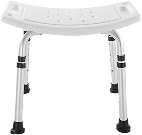 ZXY-NAN Bathroom Wheelchairs Stools Stool White Comfort Bath Chair Elderly/Handicapped/Pregnant Adjustable Aluminum Alloy Bath Stool Antislip Chair Max. 158kg