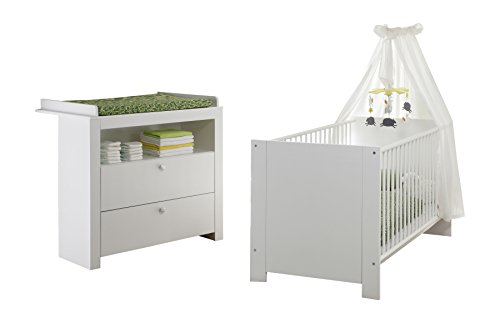trendteam smart living Babyzimmer 2-teiliges Komplett Set Olivia in Weiß