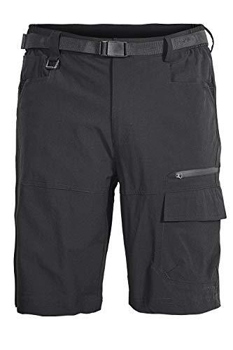 Mr.Stream Uomo Bermuda Pantaloncini Leggeri asciutti Quick Dry estensibili Outdoor Traspiranti Elasticità Pantaloni da Jogging Cargo Shorts XL Black