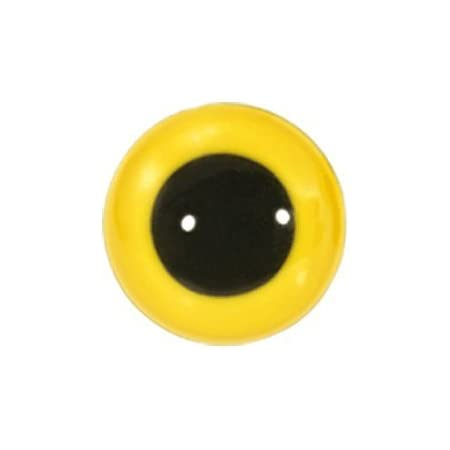 Animal Eyes with Black Centers /& Metal Washers 9mm Yellow 12pcs//pkg