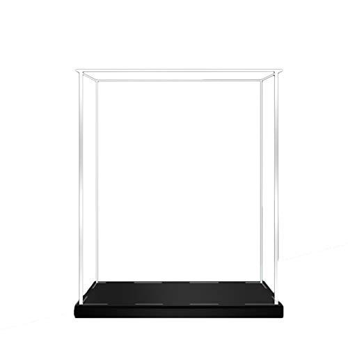 Premium Versátil Vitrina de exhibición de acrílico, caja de exhibición de acrílico, caja de polvo transparente, coches de baloncesto juguetes de bloques de bloques de bloques de bloques, base negra Es