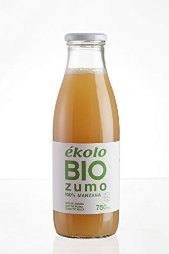 ÉKOLO Zumo de Manzana Ecológico, 100% Exprimido, 6 Botellas x 750 ml,  4500 ml