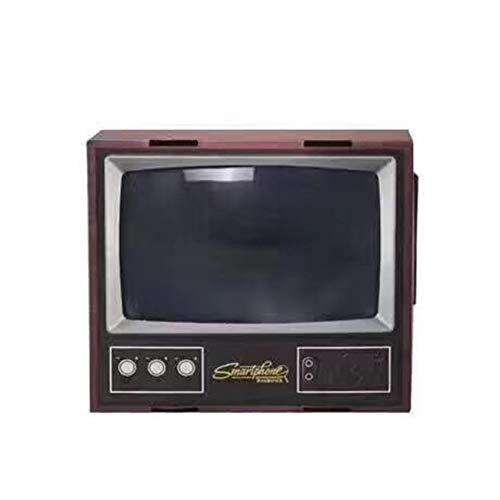 Vintage TV Teléfono móvil Smartphone Pantalla Lupa Amplificador de Video Ampliado Soporte de expansión para Video TV Show - Negro