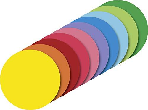 Heyda 204875615 Heyda 204875615 Faltblätter rund, uni Ø 15 cm , 10 Farben sortiert 10 Farben sortiert
