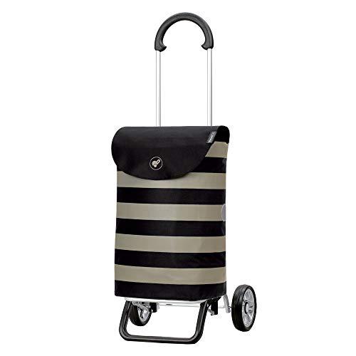 Andersen Shopper Scala Plus Alu klappbar mit Rad Ø 15cm und 36 Liter Tasche Ida schwarz