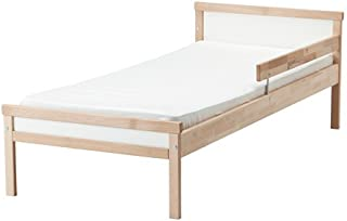 Ikea Bed frame with slatted bed base, beech Size 27 1/2x63