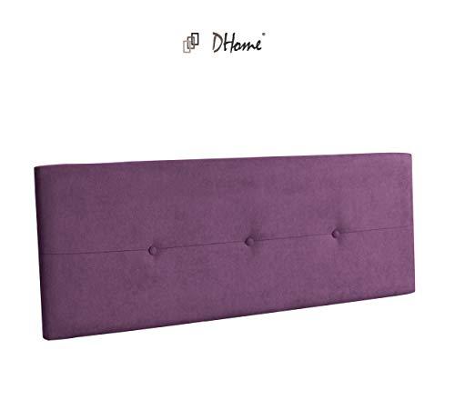 DHOME Cabecero de Polipiel o Tela AQUALINE Pro cabeceros Cabezal tapizado Cama Tela Lila, 145cm (Camas 120/135/140)