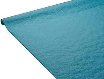 Le Mantel de Papel de Damasco, 1,18 x 6 m, Color Azul Pato, 1,18 x 6 m.